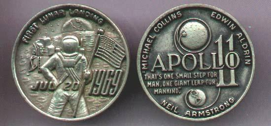 Value of Apollo 11 Coin - Pics about space